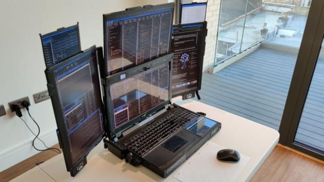Expanscape featured a laptop