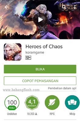 Ulasan Aplikasi Game Android Terbaik RPG Heroes Of Chaos..memperkenalkan game android terbaru..review aplikasi game RPG ringan dan seru