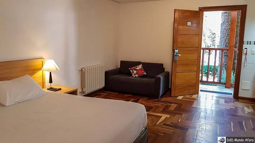 Quarto do flat na Pousada Campos dos Holandeses - Onde ficar em Campos do Jordão