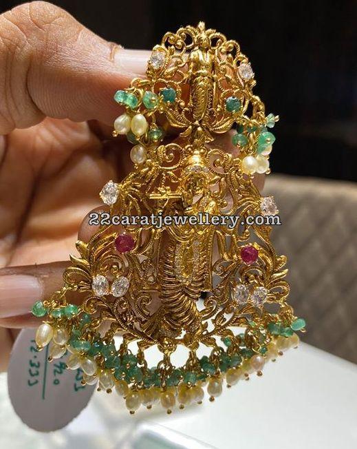 22 Carat Gold Krishna Pendant