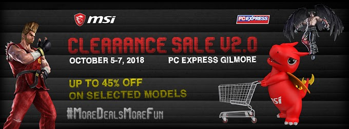 MSI Welcomes Ber Months with a Clearance Sale