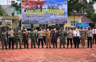 Wakil Bupati Batu Bara Hadiri Apel Gelar Pasukan Operasi Keselamatan Toba 2021