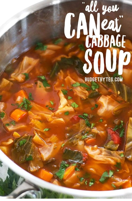 All You Can Eat Cabbage Soup