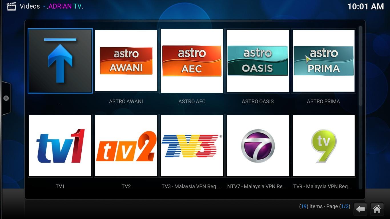 Kodi Addon (Live TV Malaysia)