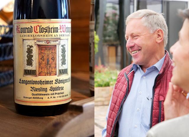 Winzer Konrad Closheim vom Weingut Closheim in Langenlonsheim an der Nahe.