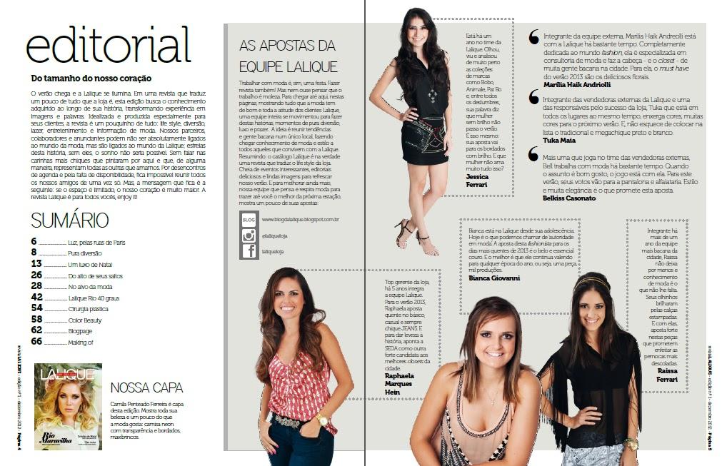 LALIQUE  Editorial Revista LALIQUE!!! Nossa equipe!!!! 7ff1211ee0db3