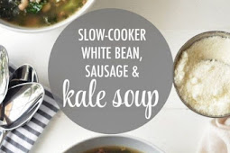 Slow-Cooker White Bean, Sausage & Kale Soup