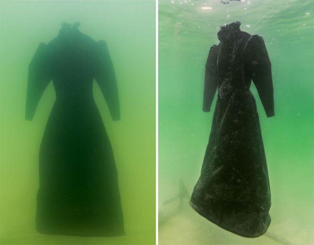 وضعوا فستان أسود في البحر الميت لعامين فما الذي حدث ؟  شاهدوا النتيجة التي لم يتوقعها أحد !!