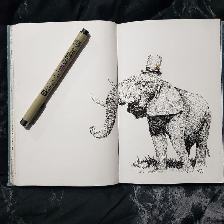 08-African-Elephant-Andy-Saputo-www-designstack-co
