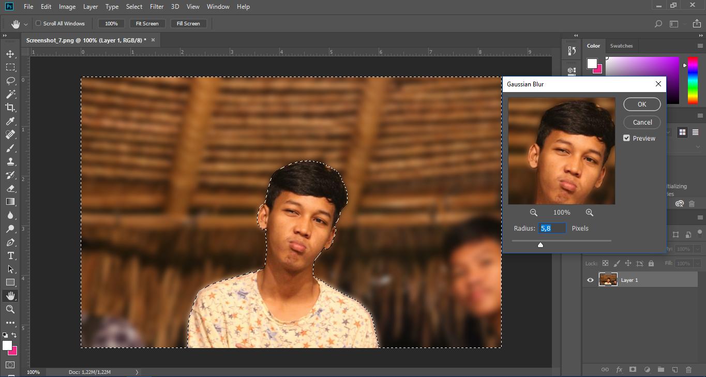 Cara Membuat Efek Blur Seperti Kamera DSLR pada Photoshop