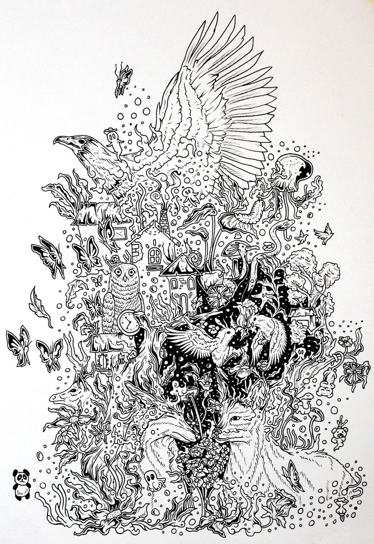 03-Taking-Off-Braulio-Monteiro-Black-and-White-Drawings-and-Watercolor-Paintings-that-tell-a-Story-www-designstack-co