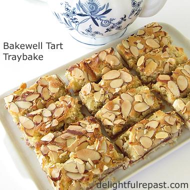 Bakewell Tart Traybake - the quick and easy way to make Bakewell Tart / www.delightfulrepast.com