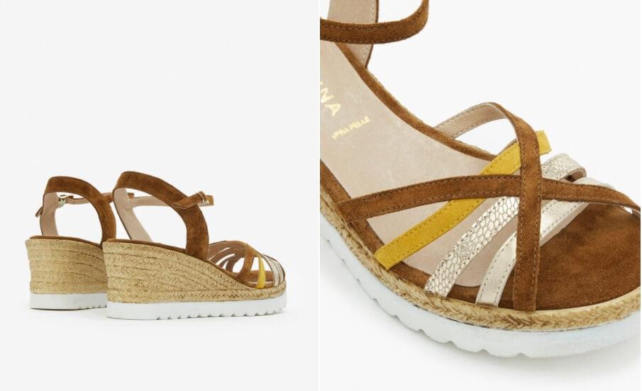 sandales compensées moelina san marina