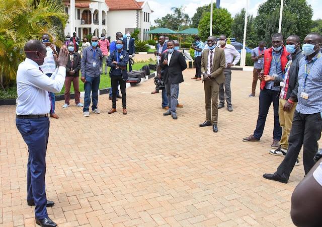 Deputy President William Ruto with Journalists