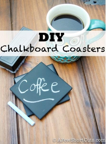 DIY Chalkboard Coasters from A Few Shortcuts