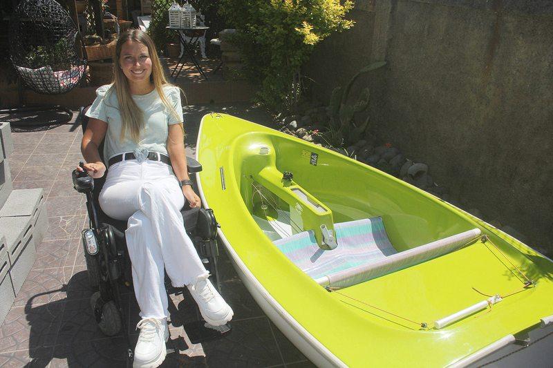 Paula Miranda, velerista paralímpica