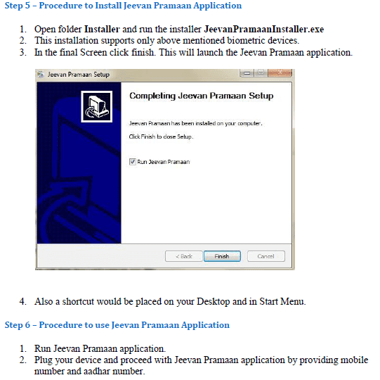 Procedure to install the drivers and the client application Jeevan Pramaan software for windows