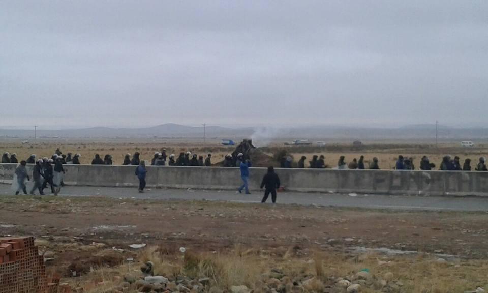 Desde las 6 de la mañana el contingente policial actuó en Cucuta y Puente Santa Ana
