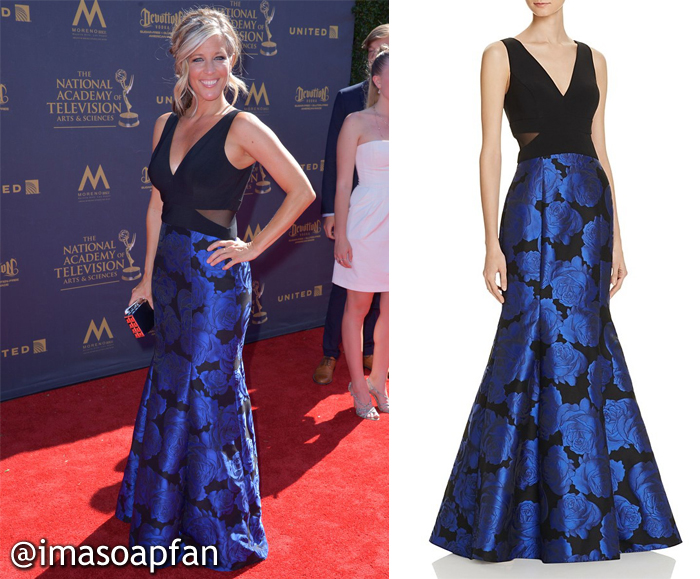 Laura Wright, Carly Corinthos, General Hospital, GH, 2017 Daytime Emmy Awards Dress
