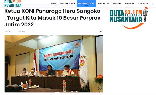"Target 10 Besar POPROV 2022 ""ketua KONI Ponorogo Heru Sangoko"""