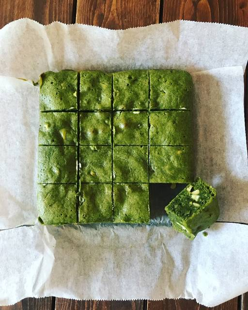 #Matcha #GreenTea #Brownies