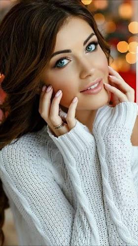 Hình nền gái xinh đôi mắt xanh xinh đẹp
