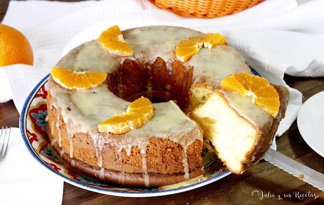 Bizcocho de naranja y queso crema. Julia y sus recetas