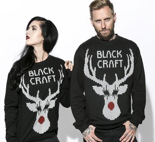 black metal rudolph black cats ugly christmas sweater - Black Metal Christmas Sweater