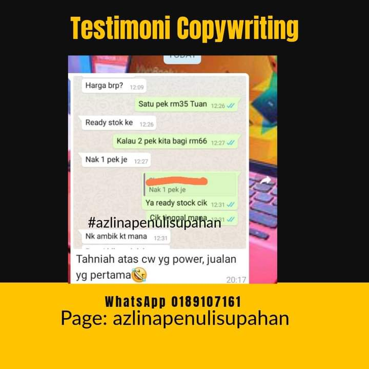 Upah Copywriting ghostwriter
