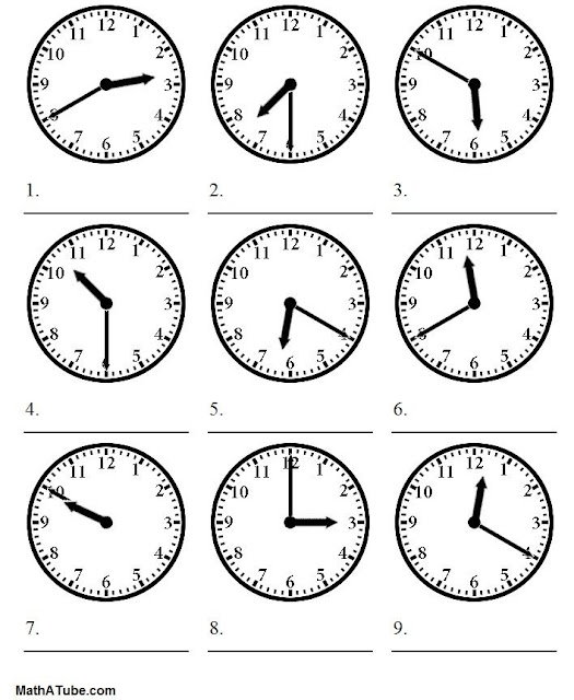 Versatile image throughout telling time worksheets printable