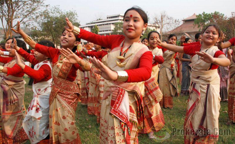 Bihu…The cultural dance of Assam.