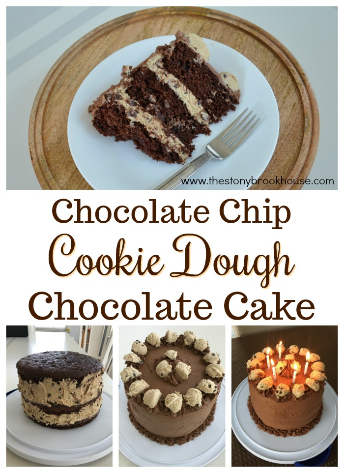 Chocolate Chip Cookie Dough Chocolate Cake