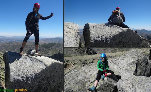 Cima de La Galana en la Sierra de Gredos