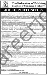 recruitment.policyboard@fpcci.org.pk - FPCCI Federation of Pakistan Chambers of Commerce & Industry Jobs 2021 in Pakistan