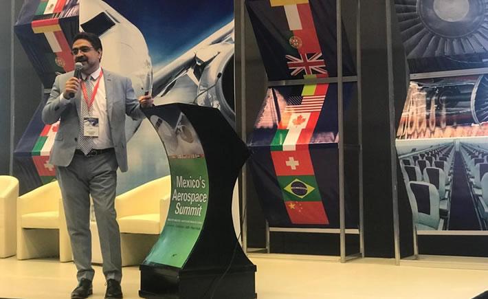 Felipe Sandoval Ramírez, presidente de la Femia, participó en el Mexico´s Aerospace Summit, ahí dijo que las  empresas tractoras están dispuestas a empujar la creación de nuevas empresas para desarrollar la cadena de suministro y el apoyo que darían a las compañías de los niveles 2 y 3 se enfoca a la asesoría y al acompañamiento. (Foto: Vanguardia Industrial)
