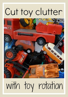 Using toy rotation to cut clutter in the home