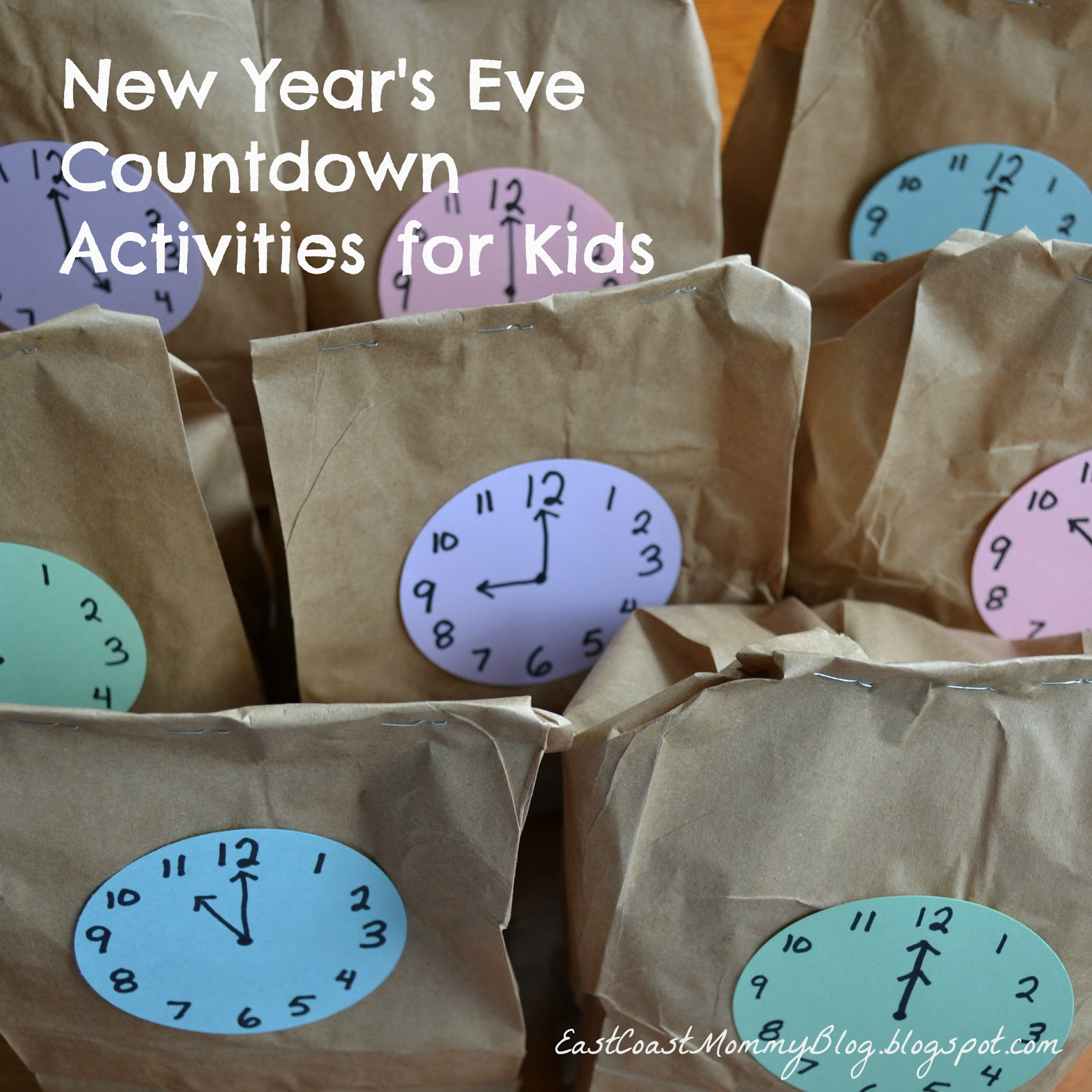 East Coast Mommy New Year S Eve Countdown Activities For Kids