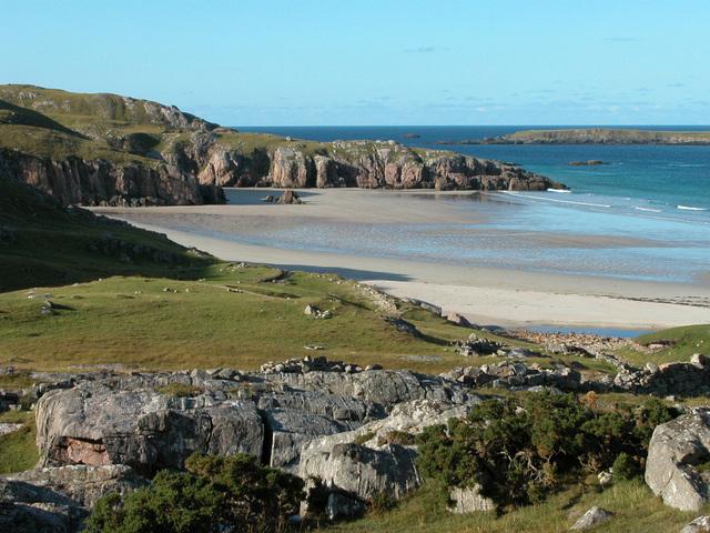 Paisaje de playa en Escocia