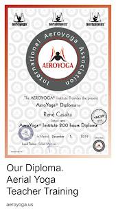 aeroyoga diploma