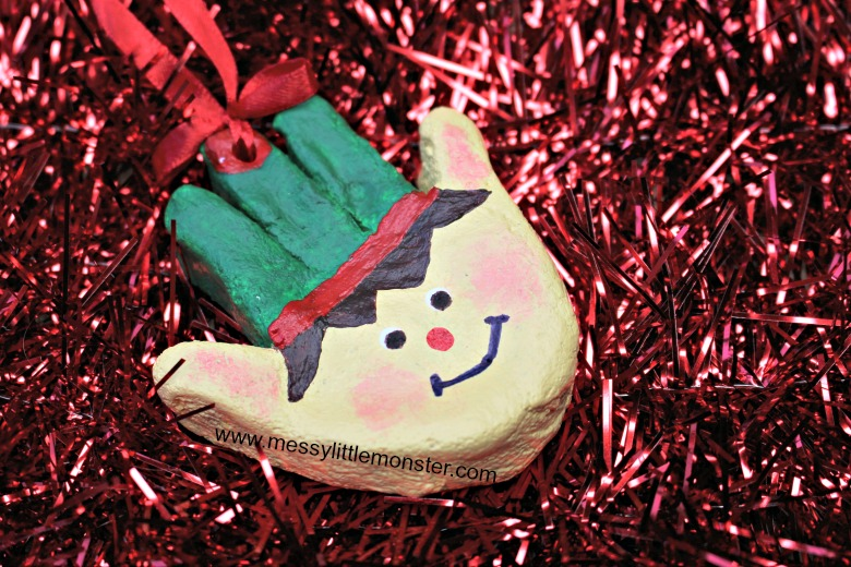 elf handprint ornament craft