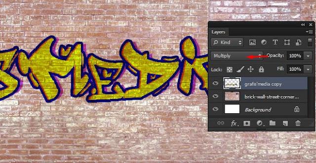 membuat tulisan menyatu dengan dinding