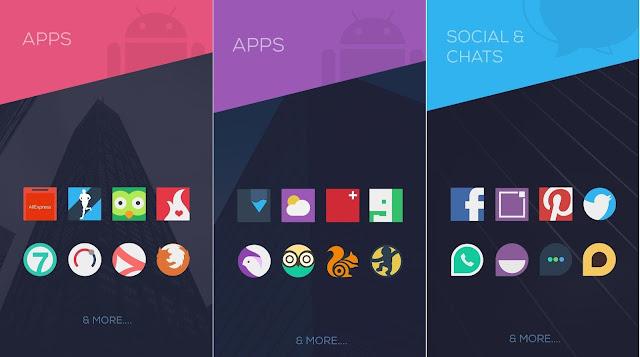 Tampilan Aplikasi Minimalist - Icon Pack Android