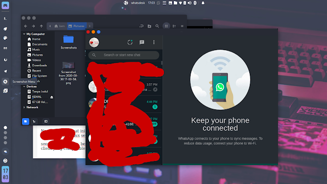 Whatsdesk di ubuntu budgie 20.40