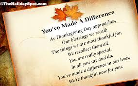 Happy Thanksgiving poems for family