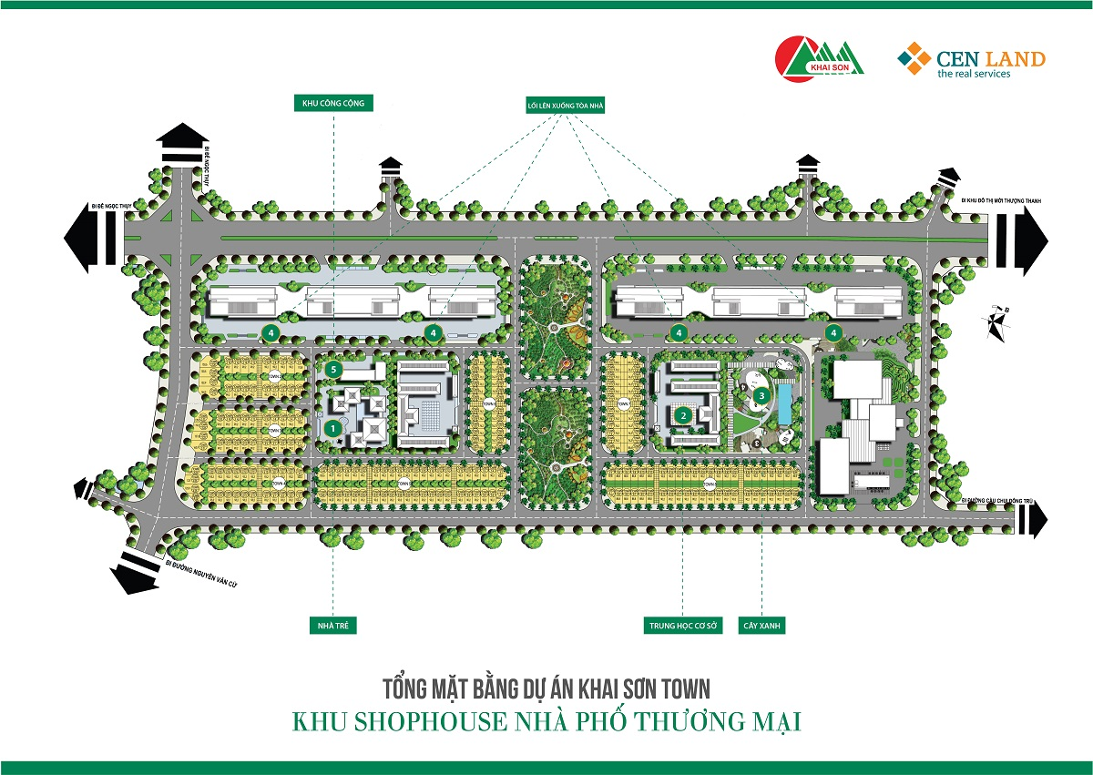 Mặt bằng tổng thể Khai Sơn City