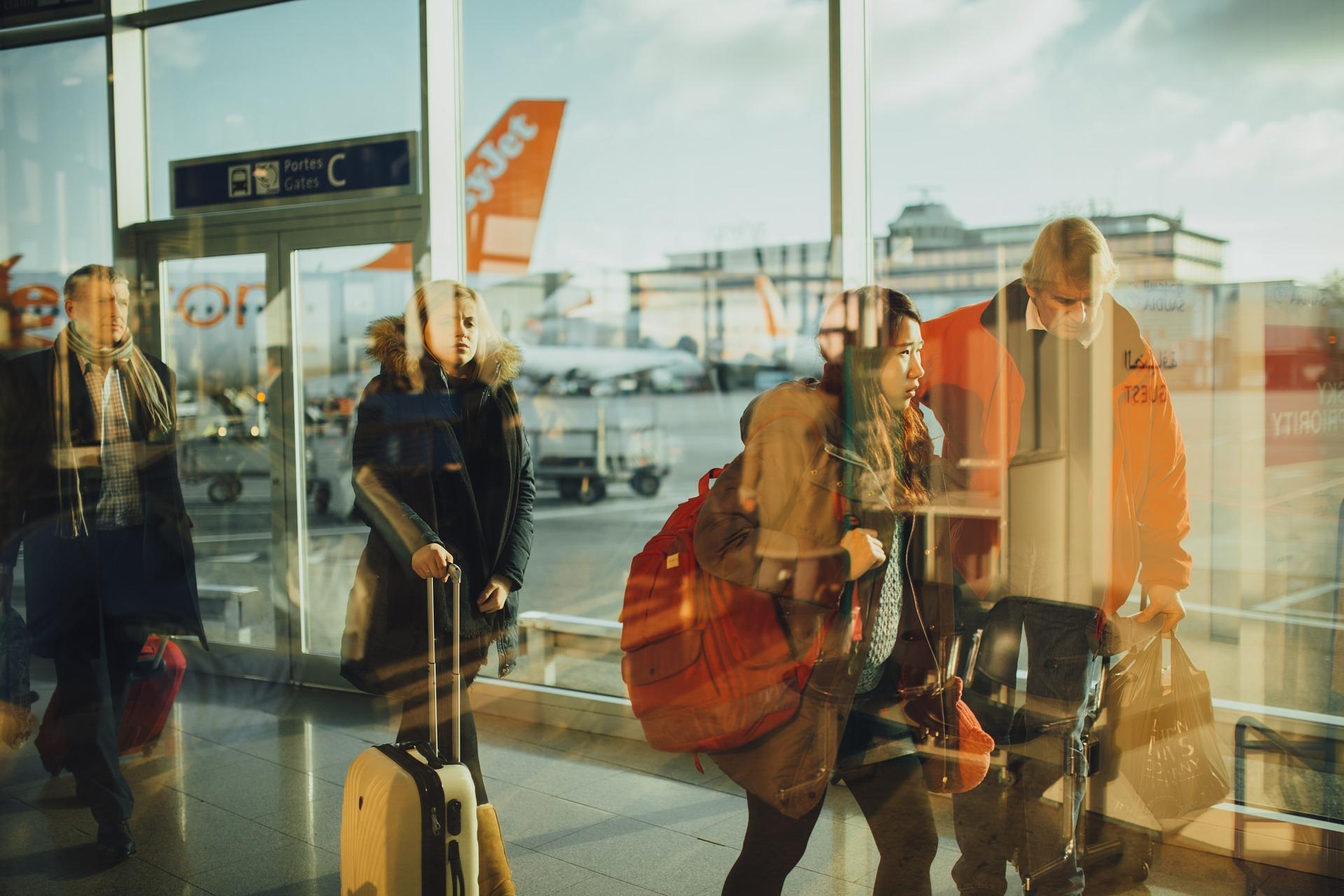 Passageiros em aeroportos