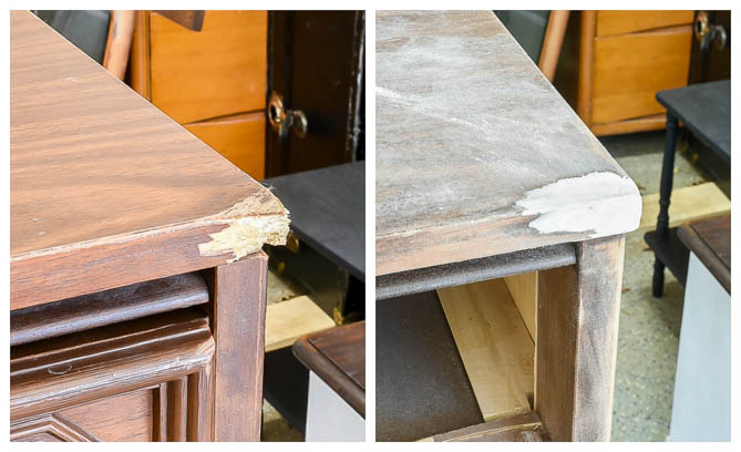 How to repair broken furniture corners