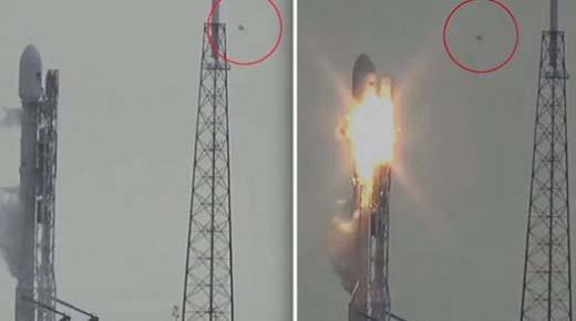 OVNI es visto en explosión del cohete de SpaceX