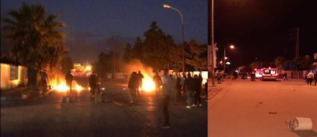 كر وفر بين الأمن والمحتجين في الشابة : إصابات وإيقافات