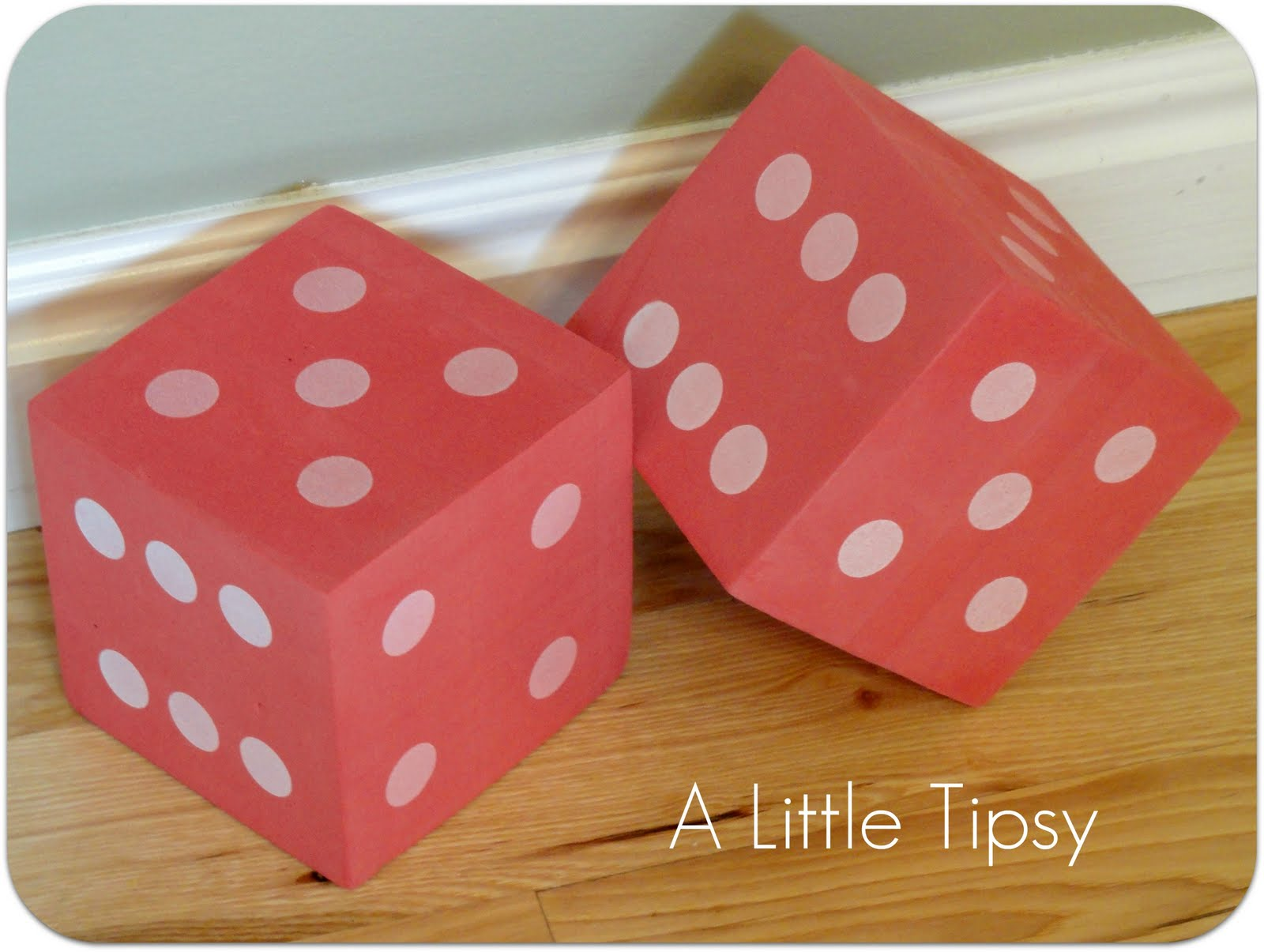 Garage Sale Dots Diy Under 5 Dice A Little Tipsy